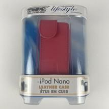 Apple iPod Nano Case Cover Protector LEATHER NIB Pinnk - $9.49