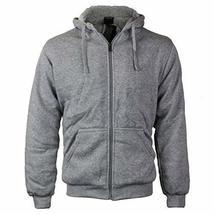 vkwear Men's Athletic Soft Sherpa Lined Fleece Zip up Hoodie Sweater Jacket (XL,