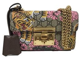 NWT GUCCI 409487 GG Supreme Bengal Small Shoulder Bag - £1,707.39 GBP