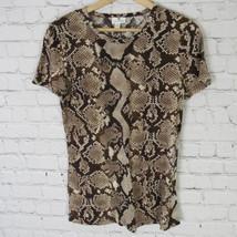 Altzurra Target T-Shirt Femmes COURTE S Marron Imprimé Motif Serpent - $19.40