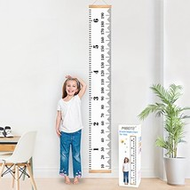 MIBOTE Baby Growth Chart Handing Ruler Wall Decor for Kids, Canvas Remov... - $10.06