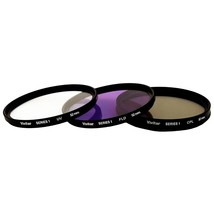 Vivitar 3 Pc Filter Kit 52MM Uv/cpl/fdl - $23.99