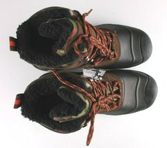 Goodfellow Co Case Mens Brown Camo Leather Textile Faux Fur Chucka Winter Boots image 4