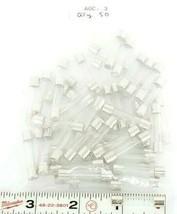 LOT OF 50 NEW LITTELFUSE AGC-3 FUSES, 3AMP, 250VOLT, 312, AGC3