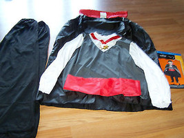 Boys Size Large 10-12 Vampire Halloween Costume Cape Top Pants Cummerbund  - $24.00