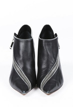 Celine Leather Pointed Zip Booties SZ 36 image 2