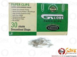 1000x Globe Paper Clips 30mm Streamlined Shape free Shipping - $21.73