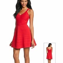 NWT XOXO Red Knit Fit & Flare Dress Size L (Juniors) - $25.00