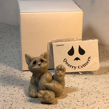 QUARRY CRITTERS CAT FIGURINE KITTEN GRAY BLACK SECOND NATURE DESIGN CLYD... - $34.65