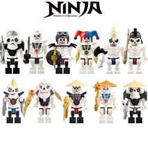 10pcs/set Skulkin (Skeleton Army) Krazi Samukai Kruncha Ninjago Minifigures - $16.99