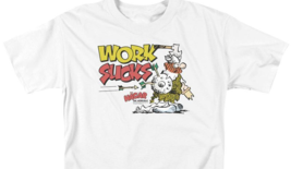 Hagar the Horrible work sucks graphic t-shirt Retro comic strip tee KSF124 image 4