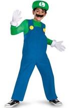 LUIGI DELUXE COSTUME Boys Small 4-6 Halloween - $18.80
