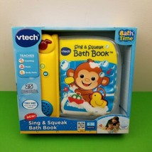 VTech Sing and Squeak Bath Book Floats Educational Developmental Toy Songs Music - $18.51