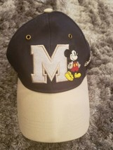Walt Disney World Parks Adjustable Hat Cap Mickey Mouse Michigan Blue Gray  - $25.93
