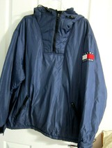 Tommy Hilfiger 1/4 zip fleece-lined pullover jacket with hood - $18.95