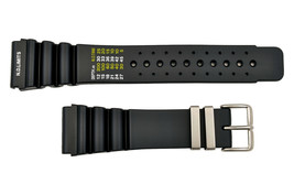 24mm Diver's SURFER Watch band Black PU STRAP Fits CITIZEN SEIKO (N. D. ... - $16.95