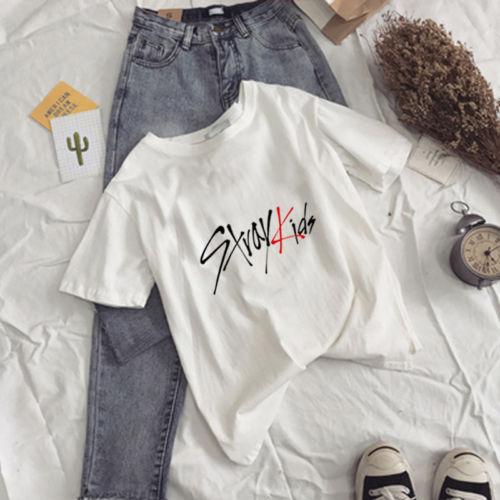 KPOP StrayKids T-shirt The HYUNJIN Letter Tee CHANGBIN Tshirt SEUNGMIN Tops