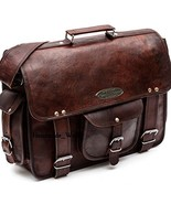 Stylish Mens Genuine Vintage Leather Messenger Business Laptop Briefcase... - $63.04+