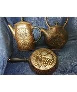 1972 HOMCO Home Interior Syroco Wall Plaques Fry Pan Coffee Pot Tea Pot ... - $19.80