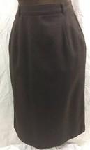 Vintage Boston Traveler Lined Skirt Womens 6 Brown Wool A-Line Back Zipp... - $4.94