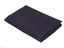 DOUBLE BED LINEN NAVY BLUE QUALITY 76/68 PICK COTTON FITTED SHEET - $12.95