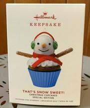 2019 Hallmark Keepsake That's Snow Sweet Cupcake Limited Edition Ornamen... - $25.99