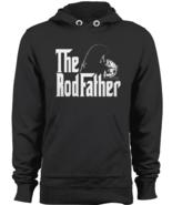 The Rodfather Pullover Hoodie Parody Fishing Angler Fisherman Sweatshirt... - $43.95