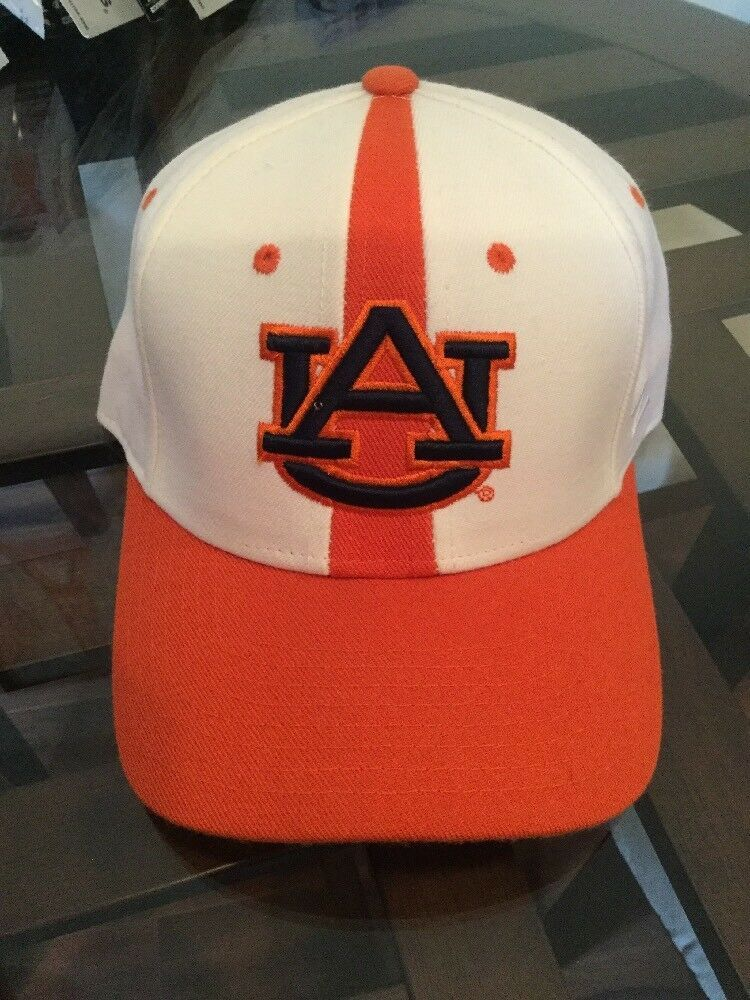 NEW NWT Auburn Tigers NCAA Football Hat Zephyr 6 7/8 College White Orange Retro - $12.86