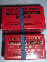 2 diff Antique Chi-ches-ters Cramp bark Womens Menstrual Pain Pills SEALED - $25.00