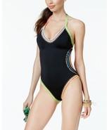 Bar III Women's Be Weave It Monokini One-piece Swimsuit Black Size XS - $43.56