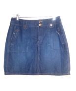 Sz 12 - Sonoma Lifestyle 100% Cotton Dark Blue Jean Denim Skirt - $25.64