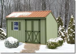 Best Barns Aspen 12x8 Wood Storage Shed Kit - ALL Pre-Cut - $1,708.40