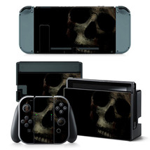 Nintendo Switch Console & Joy-Con Controller Skull Head Vinyl Skin Decal  - $11.85