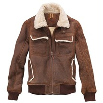 1190$ Timberland size L MEN'S Earthkeepers SHEARLING BOMBER leather JACKET - $569.84