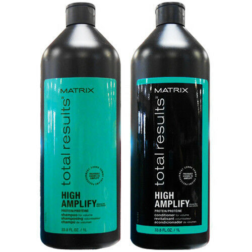 Primary image for MATRIX TOTAL RESULTS HIGH AMPLIFY PROTEIN SHAMPOO & CONDITIONER 33.8 OZ/1L EACH