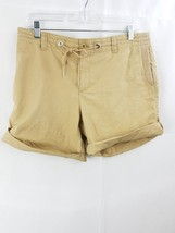 Ralph lauren women active bermuda shorts sz 8 khaki stretch - $9.99