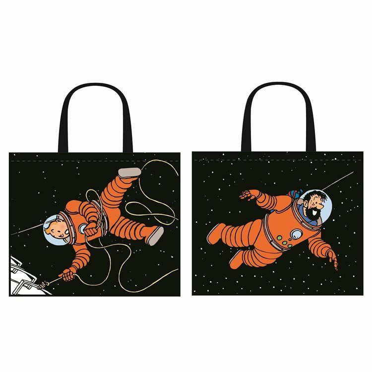 Tintin & Haddock Astronaut space tote bag 1 bag Tintin on front & Haddock back