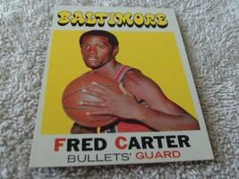 1971/72 Topps #14 Fred Carter Bullets Near Mint / Mint Or Better !! - $64.99