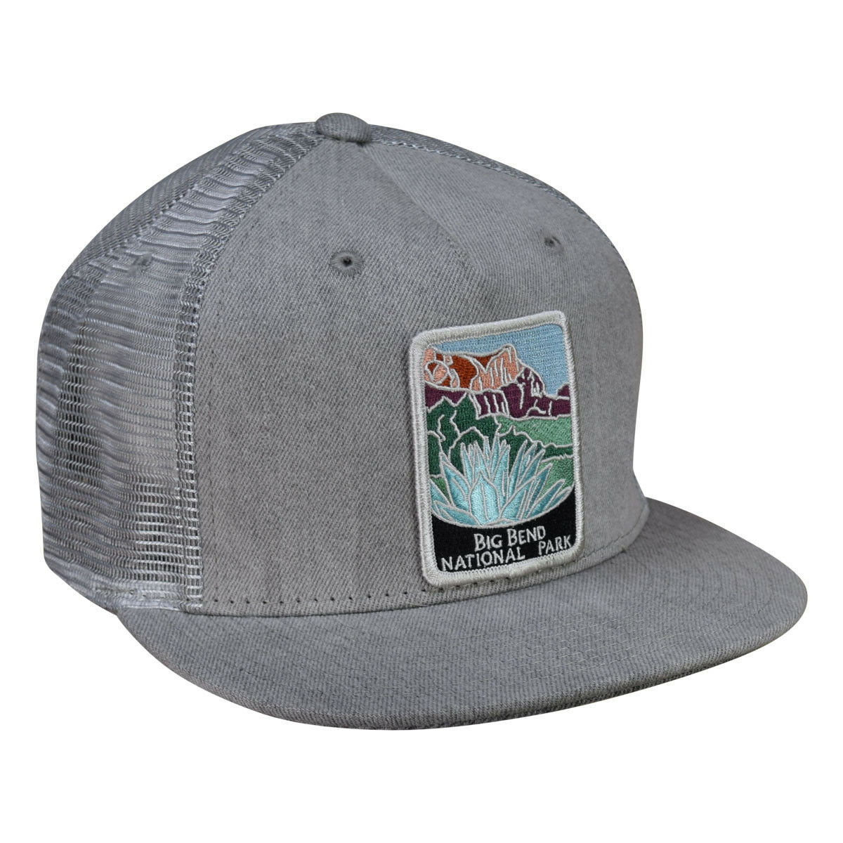 Primary image for Big Bend National Park Trucker Hat by LET'S BE IRIE - Gray Denim Snapback