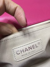 AUTHENTIC CHANEL FUCHSIA PINK QUILTED LAMBSKIN LARGE BOY FLAP BAG RECEIPT RHW image 6