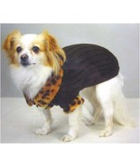 X SMALL Casual Canine Windsor Dog Sweater with Faux Leopard Trim X SMALL... - $4.95