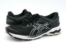 Asics Womens 8 Gel Kayano 26 Black Flyte Foam Running Sneakers EUR 39.5 - $26.99