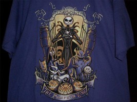 "TeeFury Nightmare LARGE ""King of the Pumpkin Patch"" Before Christmas PURPLE - $13.00"
