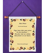 Paw Prints - Personalized Wall Hanging (973-1) - $18.99