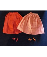 Vintage Barbie 1960's Full Gathered Skirts Pak Mix n Match lot Red And O... - $22.43