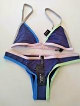 Tavik Jett Triangle Jayden Moderate Color Blocked Cobalt Bikini Set Size X Small image 1