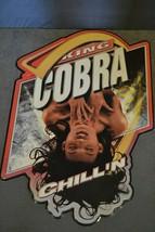 King Cobra Malt Liquor Sexy Pinup Girl Metal Tin Advertising Sign 32x21 - $139.00
