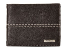 NEW STEVE MADDEN MEN'S PREMIUM LEATHER CREDIT CARD ID WALLET BROWN N80029/01