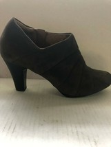 Clarks Artisan Brown Suede Ankle Boot Side Zipper Size 7 NWOB - $38.61