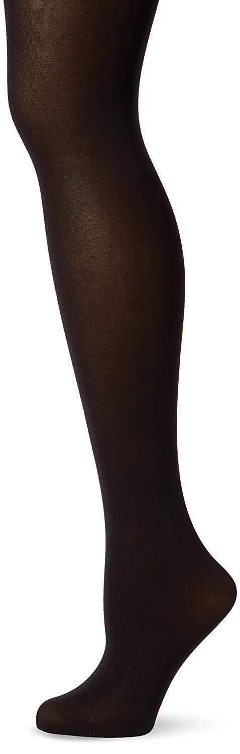 DKNY BLACK Hosiery Opaque Coverage Tights with Control Top, US Plus